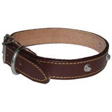 Collare In Cuoio Con Borchie Per Cani Di Piccola, Media E Grossa Taglia 25x510 Mm