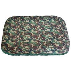 Tappetino, Materasso Cuccia Per Cani Militare Verde, Un Singolo Pezzo (86x56x12)