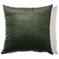 Cuscino Da Arredamento 45x45 In Velluto A Coste Colore Verde Bosco