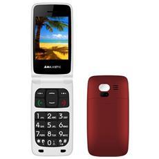 "TLF-Sileno 41N FLIP Senior Phone Display 2.4"" Slot Micro SD con Tasti Grandi + SOS Fotocamera Colore Rosso"