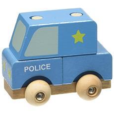 Furgone Polizia. Mezzi in legno smonta e rimonta. Ediz. a colori