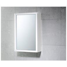 Armadietto In Resina Con Antina A Specchio 30x14,3x45 - 800702