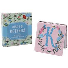 Birds And Botanics Specchietto Da Borsetta Con Lettera (k) (azzurro / rosa)