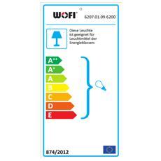 TORRE Supporto flessibile E27 LED Nero, Marrone A, A+, A++, B, C, D, E lampada a sospensione