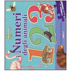 Numeri degli animali. Libro puzzle (I)