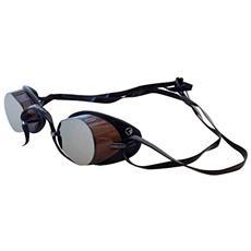 Occhialino Svedese Nuoto - Tinta Unita - Tg Unica - Colore Marrone