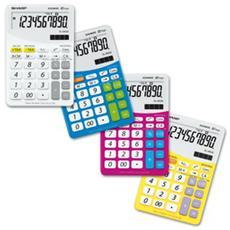 Calcolatrice con ricarica solare- bianco