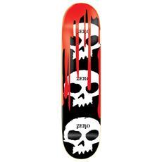 Skateboard Deck 3 Skull Blood R7 8.1 Nero Rosso Taglia Unica