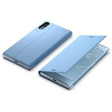 Flip Cover Custodia per Xperia XZs in Pelle Colore Blu