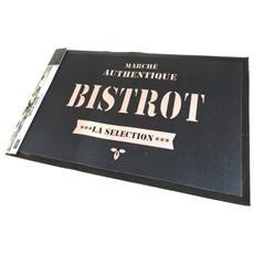 tappeti da cucina 'bistrot' nero - 70x45 cm - [ n6654]