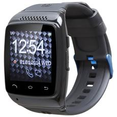"Smartwatch Chronos Colour Display LCD 1.6"" Bluetooth Android 4.3 Nero - Italia RICONDIZIONATO"