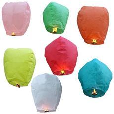 Lanterna Cinese Set Da 10 Pz Colori Assortiti