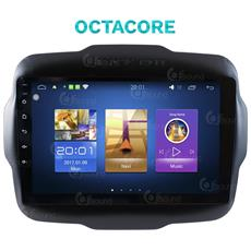 Autoradio Jeep Renegade Android Octacore Android 7.1.1 Wifi Gps Bluetooth Mirror Link Usb Mp3