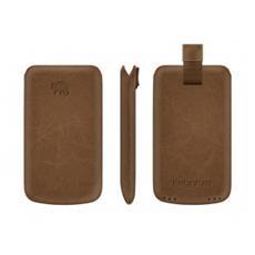 Premium Leather Case Custodia a scorrimento Marrone