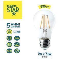 Goccia E27 Trasparente Classic Star 7w 995lm