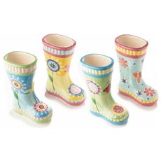 Vasi Per Fiori A Forma Di Stivali In Ceramica