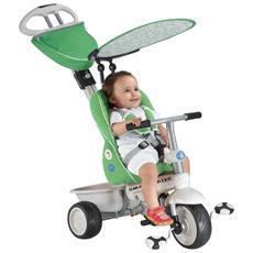 Triciclo Per Bambini 4 In 1 Verde Grigio Recliner