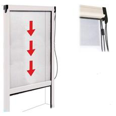 Zanzariera in alluminio a catenella per porte e finestre 120x250