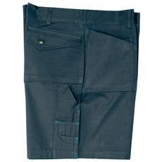 Pantaloni Corti In Cotone Colore Blu Taglia Xl