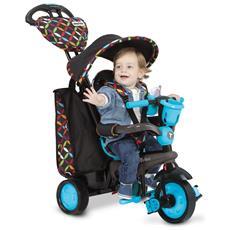 Triciclo Per Bambini 4 In 1 Nero E Blu Boutique