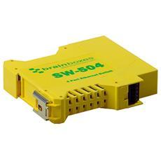 SW-504, No gestito, Fast Ethernet (10/100) , Giallo, -30 - 80 °C