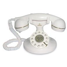 Telefono fisso a filo VINTAGE BIANCO