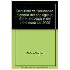 Decisioni dell'adunanza plenaria del consiglio di Stato del 2008 e dei primi mesi del 2009