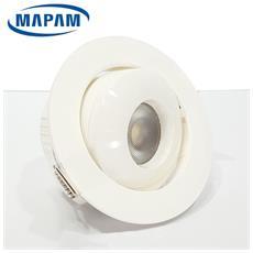 Faretti Led 7w Cob Da Incasso Orientabile Ip20 Interno Bianco Luce Calda 3000k Mpcob7w