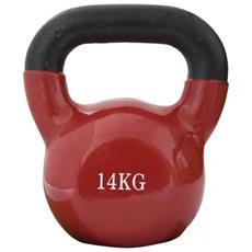 Peso Palestra Kettlebell Neoprene Rosso Esercizi Addominali Tricipiti Casa 14kg