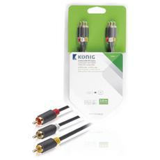 KNV24300E20, 3 x RCA, 3 x RCA, Maschio, Maschio, Antracite, Cloruro di polivinile (PVC)