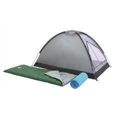 Set Da Campeggio Campak 2 Sacchi A Pelo, 2 Materassini, 1 Tenda