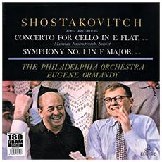 Rostropovich / Philadelphia Orch. Cond. Eugene Ormandy - Concerto For Cello In E Flat, Op. 107, Symphony No. 1 In F Major, Op. 10