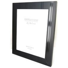 cornici portafoto 'design' in alluminio nero (20x25 cm) - [ m7739]