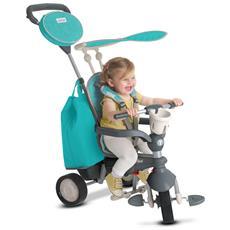 Triciclo Per Bambini 4 In 1 Azzurro Voyage