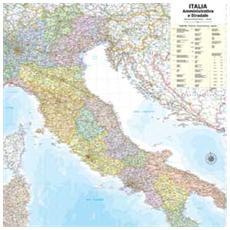 pz. 1 Carta Geografica MuraleITALIA. 98x119 M08PL