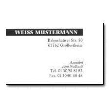 Biglietti da Visita Bianco 85 x 54 mm SCW2090