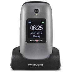 "Bbm 625 Senior Phone Dual Sim Display 2.4"" Micro SD Bluetooth con Tasti Grandi + SOS Fotocamera Colore Grigio"