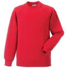 Jerzees Felpa Casual Unisex (3-4 Anni) (rosso Acceso)