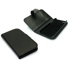 Wallet iPhone 5 PU skin Black