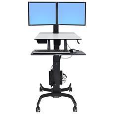 Postazione di Lavoro WorkFit-C per 2 Schermi LCD