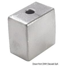 """Anodo piede 50/200 HP zinco diam. foro 3/8""""x16"""