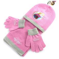 bambino insieme 'frozen - ' rosa (guanti + cappello + sciarpa) - [ n0495]