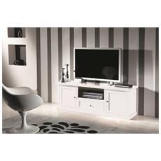 Porta Tv Legno Bianco Opaco - Codluis 309