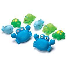 Bathtime Squirtees Boy, Giochi per il bagno, Gift bag, Blu, Verde