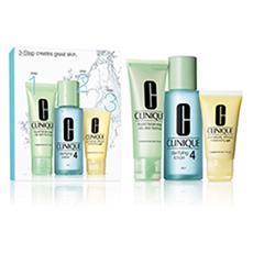 3 Step System per pelle tipo 4 da oleosa a molto oleosa liquid facial soap 50 ml clarifying lotion 100 ml drammatically different moisturizing gel 30 ml
