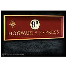 Insegna Placca Harry Potter Treno Hogwarts Express Binario 56x20