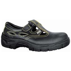 Sandalo Da Lavoro In Crosta Stampata Dollaro Con Puntale E Lamina S1p Taglia 47