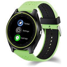 Smartwatch V9 Slot Scheda Sim E Bluetooth Fotocamera Orologio Telefono Pedometro Green