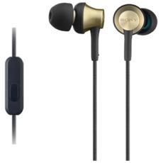 Cuffie intrauricolari con involucro in ottone, driver al neodimio da 12 mm e telecomando e microfono in linea RICONDIZIONATO