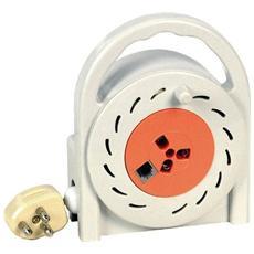 Prolunga Telefonica con Avvolgicavo 10 Metri Spina+Presa 3 Poli+Presa Mod. 6/4C